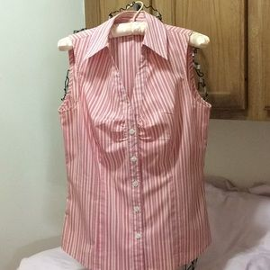 Pink Ann Taylor sleeveless Blouse